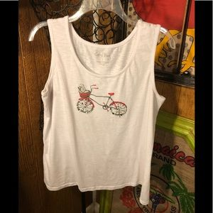 Tank top T-shirt with 3D picture